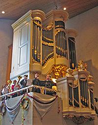 Künckel orgel met blaasensemble